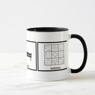 essen Sie, schlafen Sie, sudoku Tasse