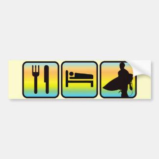Essen Sie, schlafen Sie, surfen Sie Autoaufkleber