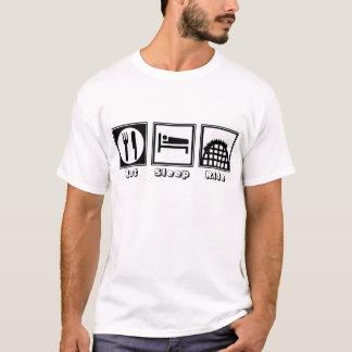 Essen Sie, schlafen Sie u. reiten Sie T-Shirt