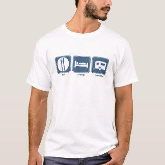 essen Sie, schlafen Sie, Wohnwagen T-Shirt