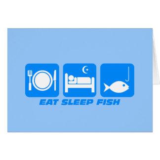 essen Sie Schlaffische Karte