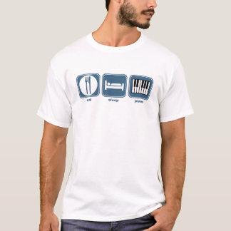 essen Sie Schlafklavier T-Shirt