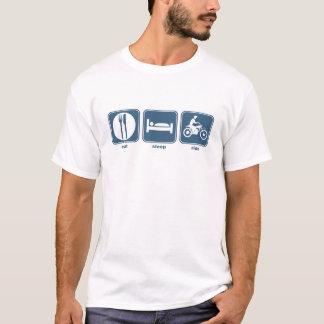 essen Sie Schlafmotorrad T-Shirt