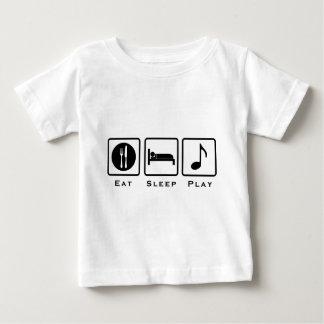 essen Sie Schlafmusik Baby T-shirt