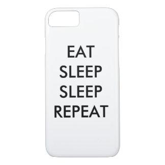 essen Sie Schlafschlafwiederholung iphone 6/s iPhone 8/7 Hülle