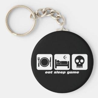 Essen Sie Schlafspiel Schlüsselanhänger