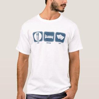 essen Sie Schlaftat T-Shirt