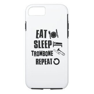 Essen Sie SchlafTrombone iPhone 8/7 Hülle