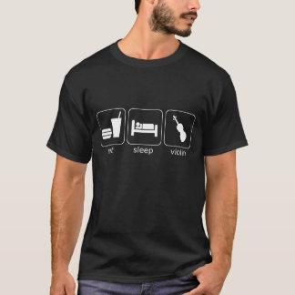 essen Sie Schlafvioline - Dunkelheit T-Shirt