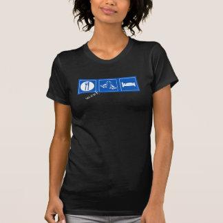 essen Sie Skateschlafdunkelheit T-Shirt