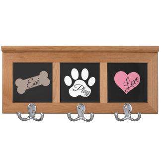 Essen Sie Spiel-Liebe-Hundetatzen-Druck-Knochen