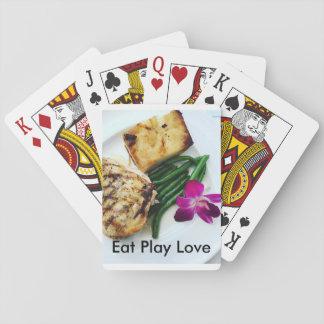 Essen Sie Spiel-Liebeplattform von 52 Spielkarten