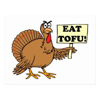 Essen Sie Tofu Postkarte