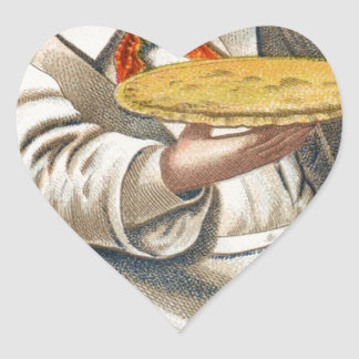 Essen Sie Torte Herz-Aufkleber