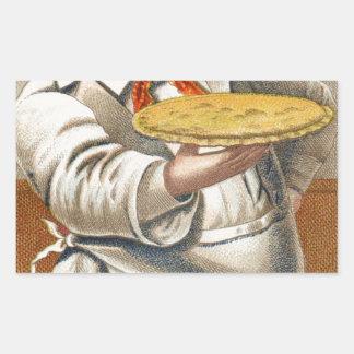 Essen Sie Torte Rechteckiger Aufkleber