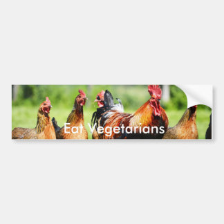 """""""Essen Sie Vegetarier-"""" Autoaufkleber"""