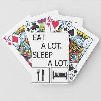 Essen Sie viel Schlaf viel Bicycle Spielkarten