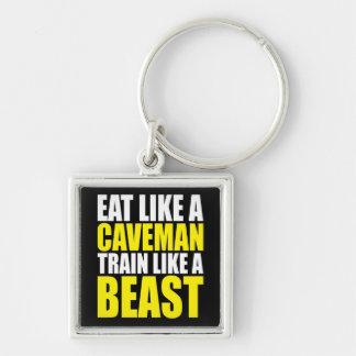 Essen Sie wie ein Höhlenbewohner, Zug wie ein Tier Schlüsselanhänger