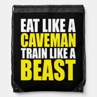 Essen Sie wie ein Höhlenbewohner, Zug wie ein Tier Turnbeutel
