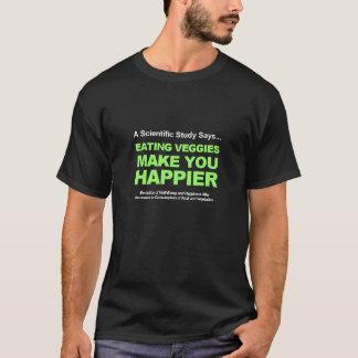 Essend machen Veggies Sie glücklicher T-Shirt