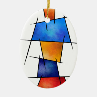 Esseniumos V1 - abstraktes außen hinteres des Ovales Keramik Ornament