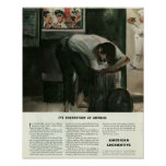 Essenszeit in Amerika-Plakat
