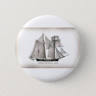 Essiggurke 1805 runder button 5,7 cm