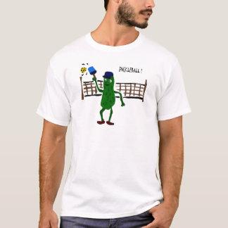 Essiggurke, die Pickleball Primitiv-Kunst spielt T-Shirt
