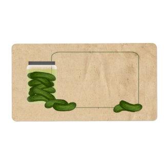Essiggurken-Produkt-Aufkleber Versandetikett