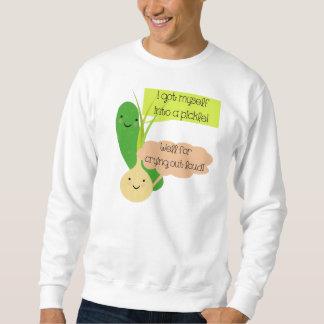 Essiggurken-und Zwiebel-Spaß Sweatshirt