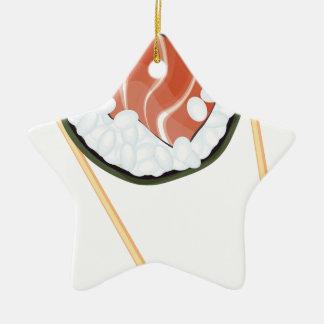 Essstäbchen, die Sushi2 halten Keramik Ornament