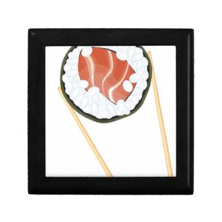 Essstäbchen, die Sushi2 halten Schmuckschachtel