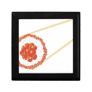 Essstäbchen, die Sushi3 halten Erinnerungskiste