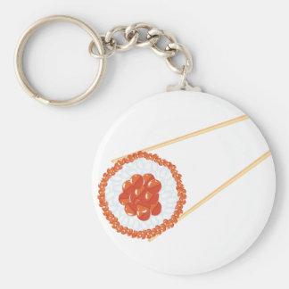 Essstäbchen, die Sushi3 halten Schlüsselanhänger