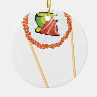 Essstäbchen, die Sushi4 halten Keramik Ornament
