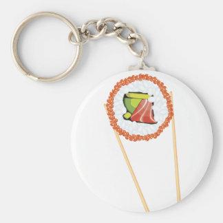 Essstäbchen, die Sushi4 halten Schlüsselanhänger