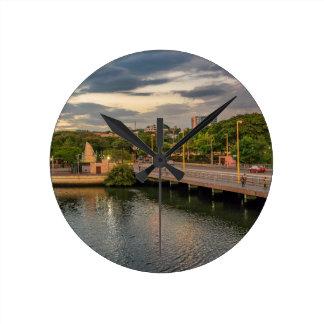 Estero Salado Fluss Guayaquil Ecuador Runde Wanduhr