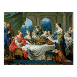 Esther und Ahasuerus, c.1775-80 Postkarte