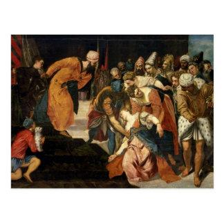Esther vor Ahasuerus, 1548 Postkarte