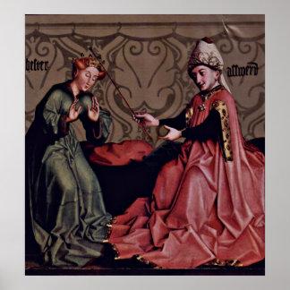 Esther vor Ahasuerus durch Konrad Witz Poster