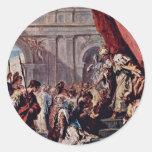 Esther vor dem persischen König Ahasuerus By Ricci Runde Sticker