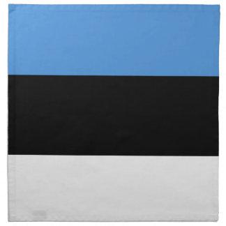 Estland-Flagge ganz über Entwurf Serviette