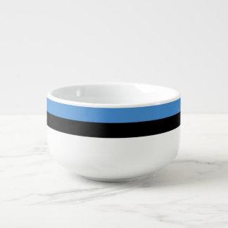 Estland-Flagge Große Suppentasse