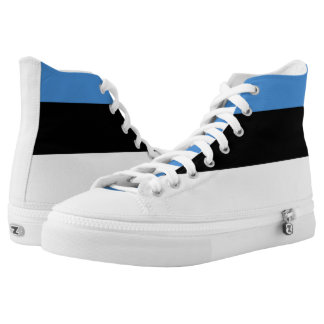 Estland-Flagge Hoch-geschnittene Sneaker