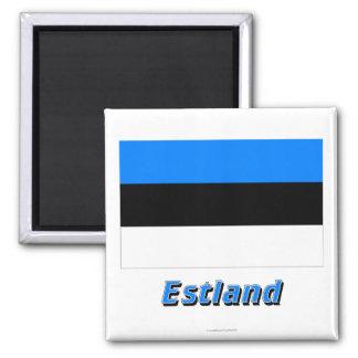 Estland Flagge MIT Namen