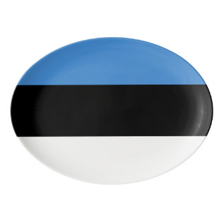 Estland-Flagge Porzellan Servierplatte