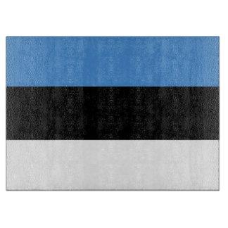 Estland-Flagge Schneidebrett