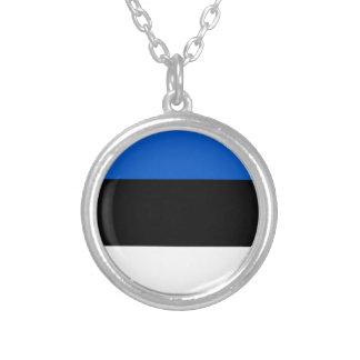 Estland-Flagge Versilberte Kette