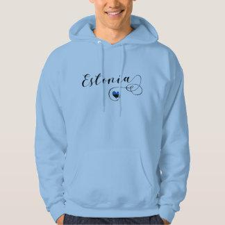 Estland-HerzHoodie, estnische Flagge Hoodie