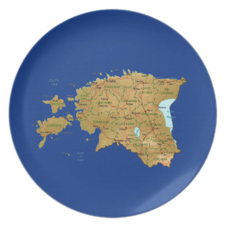 Estland-Karten-Platte Teller